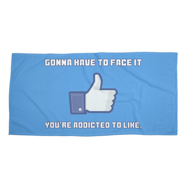 Facebook Addicted To Like T-shirt Accessories Beach Towel by Tee Panic T-Shirt Shop by Muzehack