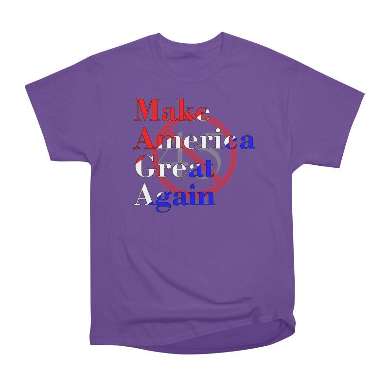 MAGA Impeach 45 T-shirt Men's Heavyweight T-Shirt by Tee Panic T-Shirt Shop by Muzehack