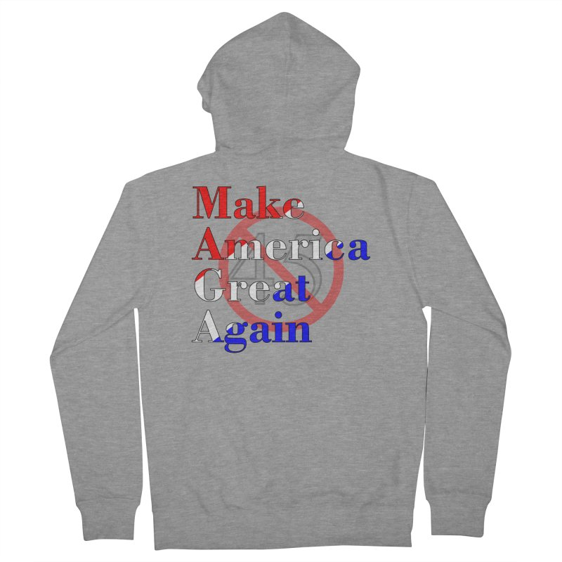 MAGA Impeach 45 T-shirt Women's French Terry Zip-Up Hoody by Tee Panic T-Shirt Shop by Muzehack