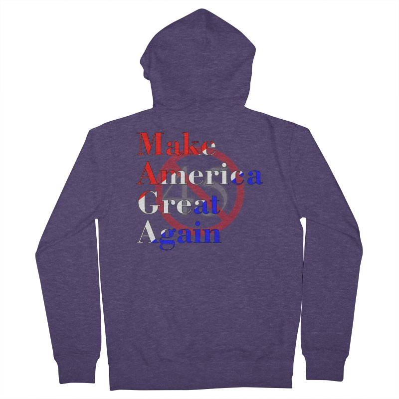 MAGA Impeach 45 T-shirt Men's French Terry Zip-Up Hoody by Tee Panic T-Shirt Shop by Muzehack
