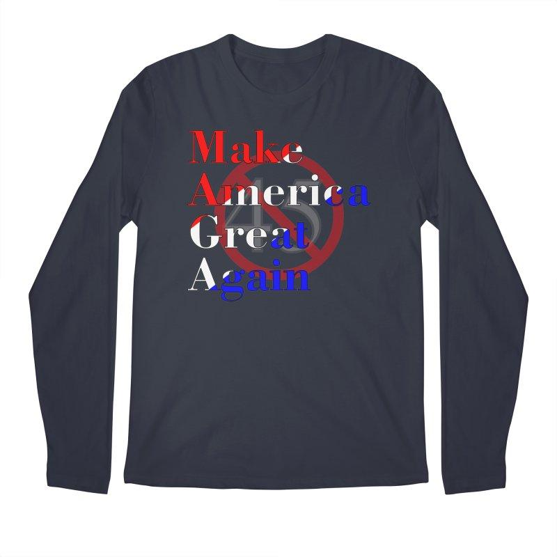 MAGA Impeach 45 T-shirt Men's Regular Longsleeve T-Shirt by Tee Panic T-Shirt Shop by Muzehack