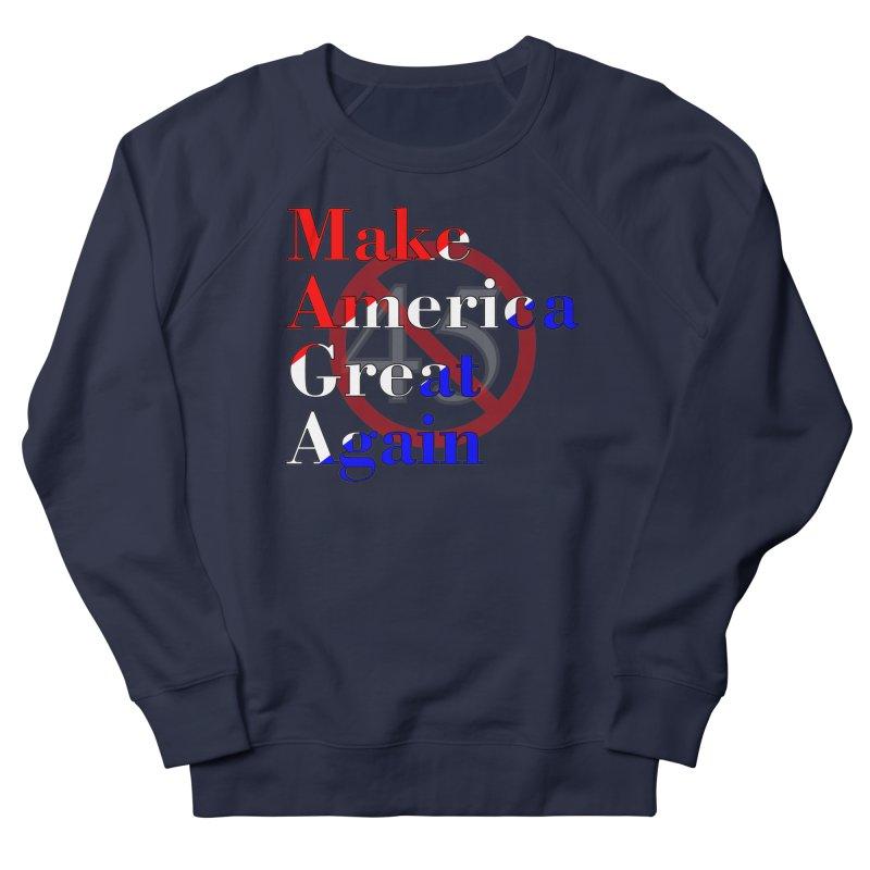 MAGA Impeach 45 T-shirt Men's French Terry Sweatshirt by Tee Panic T-Shirt Shop by Muzehack