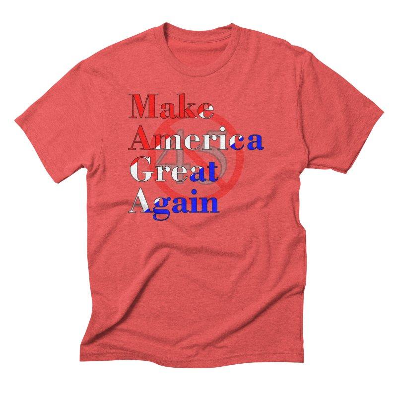 MAGA Impeach 45 T-shirt Men's Triblend T-Shirt by Tee Panic T-Shirt Shop by Muzehack
