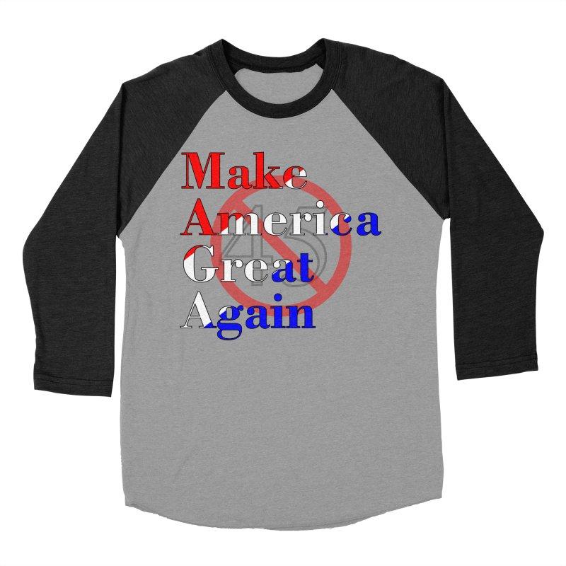 MAGA Impeach 45 T-shirt Men's Baseball Triblend Longsleeve T-Shirt by Tee Panic T-Shirt Shop by Muzehack