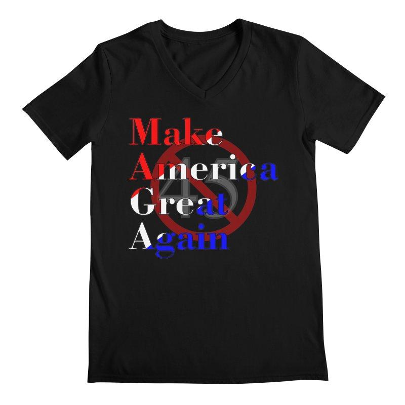 MAGA Impeach 45 T-shirt Men's Regular V-Neck by Tee Panic T-Shirt Shop by Muzehack