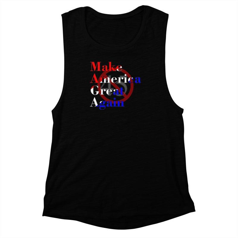 MAGA Impeach 45 T-shirt Women's Muscle Tank by Tee Panic T-Shirt Shop by Muzehack