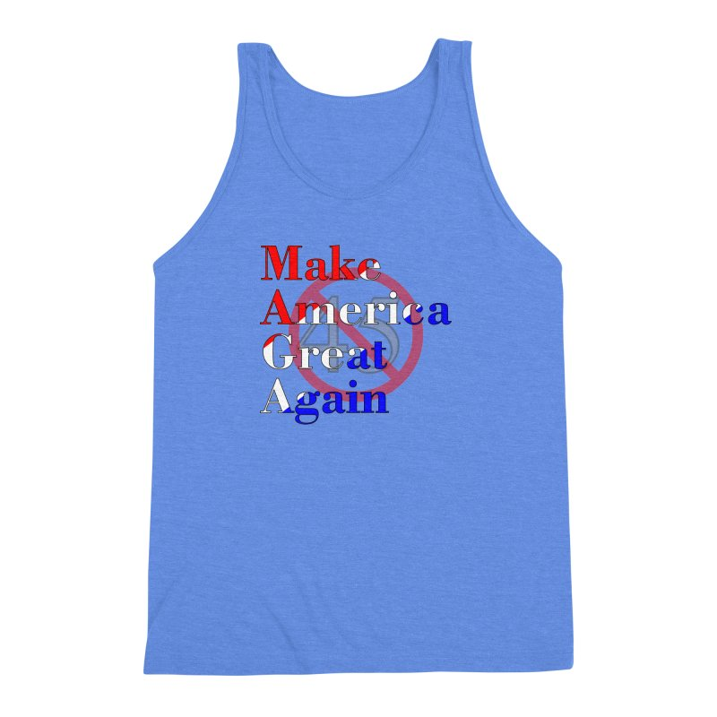 MAGA Impeach 45 T-shirt Men's Triblend Tank by Tee Panic T-Shirt Shop by Muzehack
