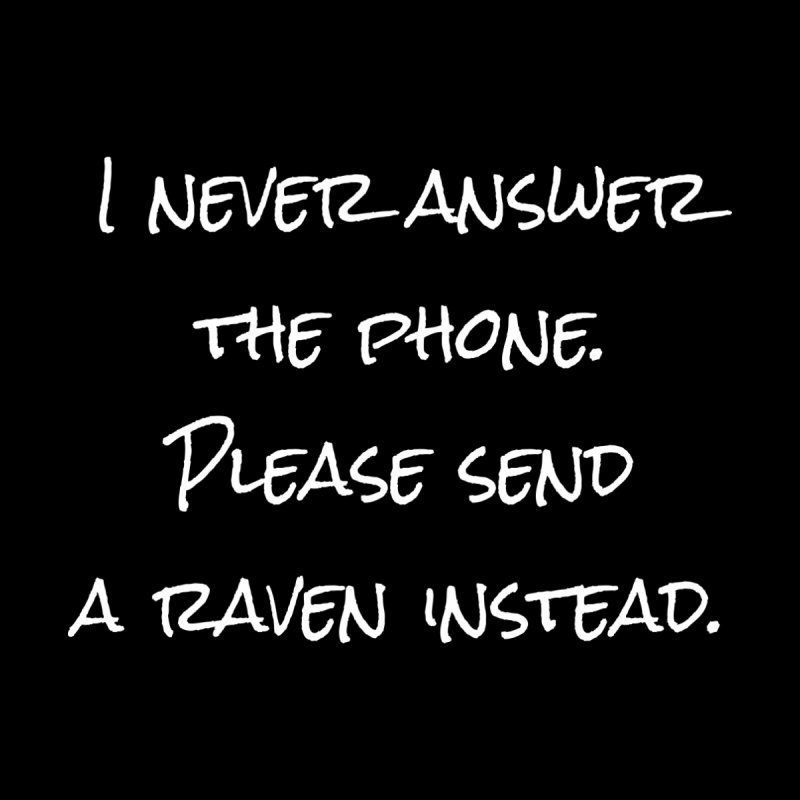 Send A Raven T-shirt None  by Tee Panic T-Shirt Shop by Muzehack