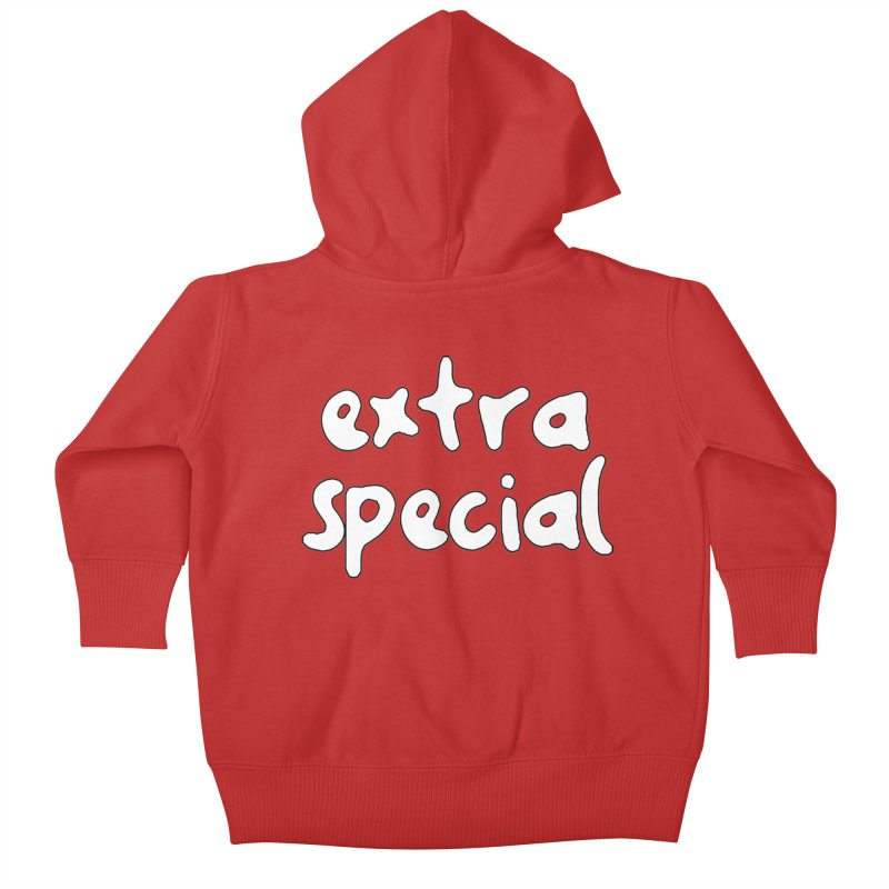 Extra Special T-shirt Kids Baby Zip-Up Hoody by Tee Panic T-Shirt Shop by Muzehack