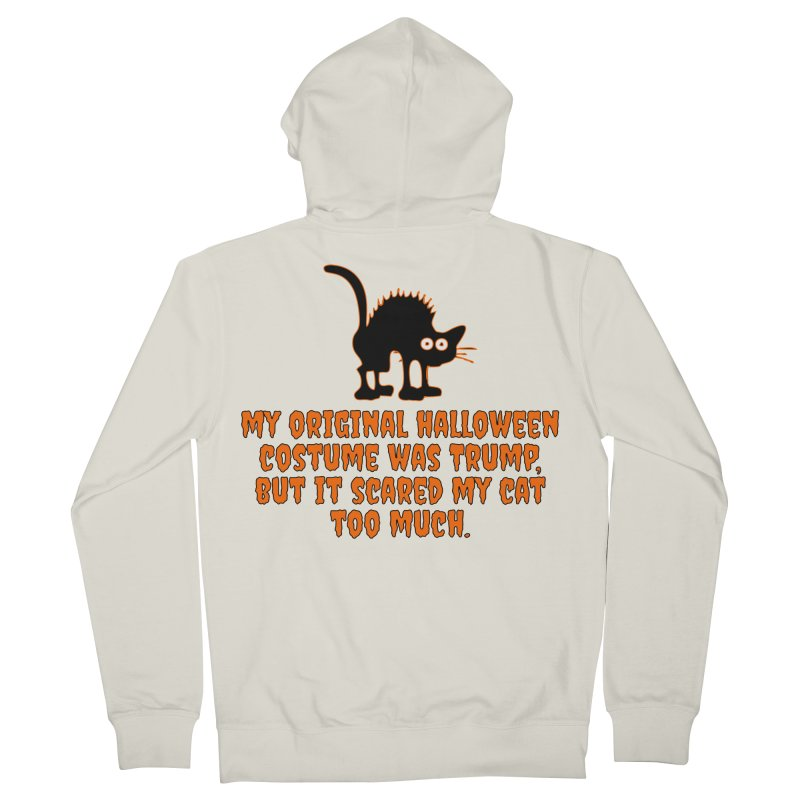 Trump Halloween Costume T-shirt Men's French Terry Zip-Up Hoody by Tee Panic T-Shirt Shop by Muzehack