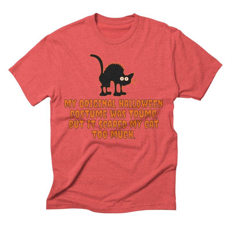 Trump Halloween Costume T-shirt Men's Triblend T-Shirt by Tee Panic T-Shirt Shop by Muzehack