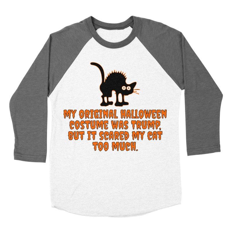 Trump Halloween Costume T-shirt Women's Baseball Triblend Longsleeve T-Shirt by Tee Panic T-Shirt Shop by Muzehack