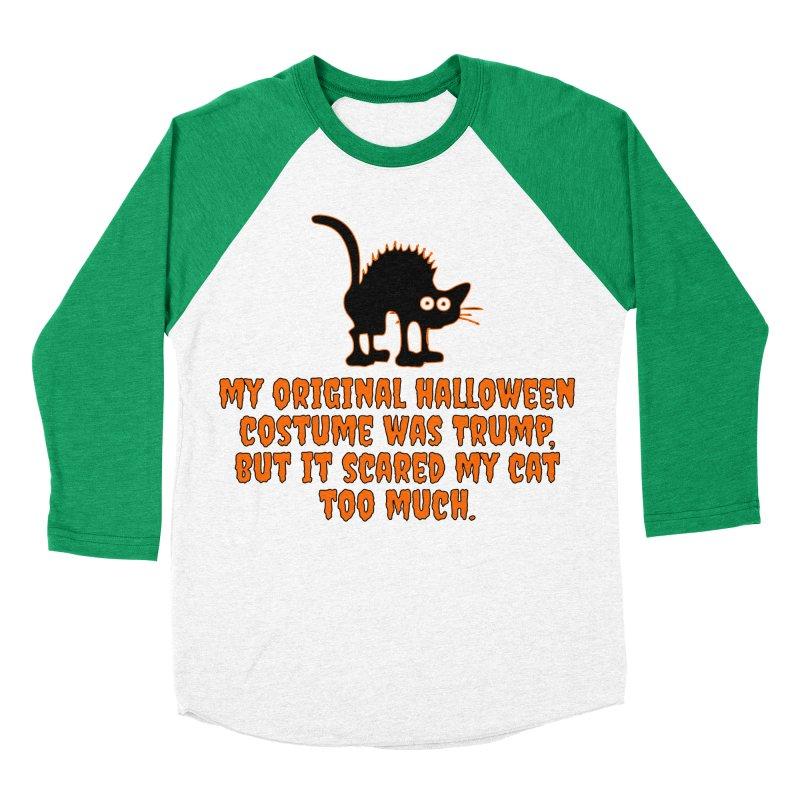 Trump Halloween Costume T-shirt Men's Baseball Triblend Longsleeve T-Shirt by Tee Panic T-Shirt Shop by Muzehack