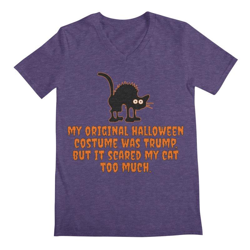 Trump Halloween Costume T-shirt Men's Regular V-Neck by Tee Panic T-Shirt Shop by Muzehack