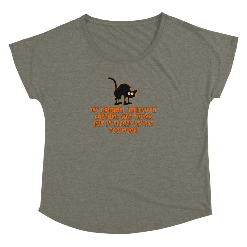 Trump Halloween Costume T-shirt Women's Dolman Scoop Neck by Tee Panic T-Shirt Shop by Muzehack