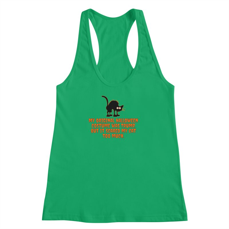 Trump Halloween Costume T-shirt Women's Racerback Tank by Tee Panic T-Shirt Shop by Muzehack