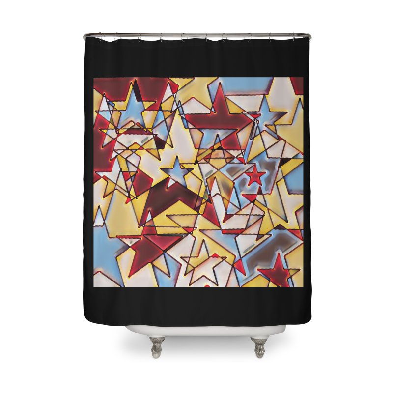 Stars Home Shower Curtain by Tee Panic T-Shirt Shop by Muzehack