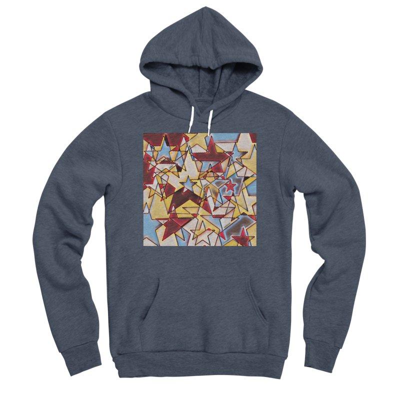 Stars Men's Sponge Fleece Pullover Hoody by Tee Panic T-Shirt Shop by Muzehack