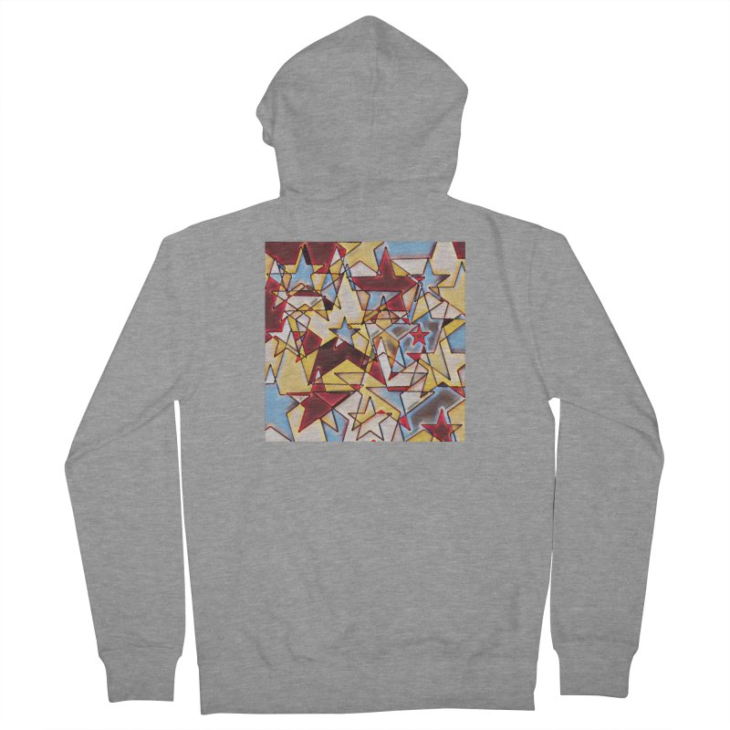 Stars Men's French Terry Zip-Up Hoody by Tee Panic T-Shirt Shop by Muzehack