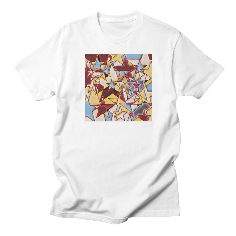 Stars Men's Regular T-Shirt by Tee Panic T-Shirt Shop by Muzehack