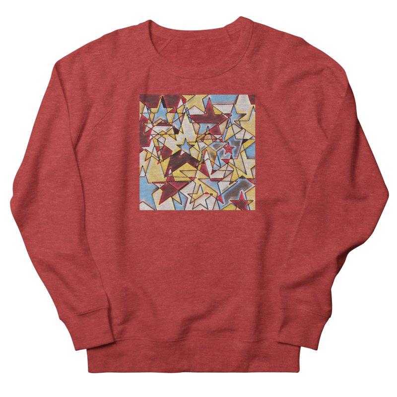 Stars Men's French Terry Sweatshirt by Tee Panic T-Shirt Shop by Muzehack