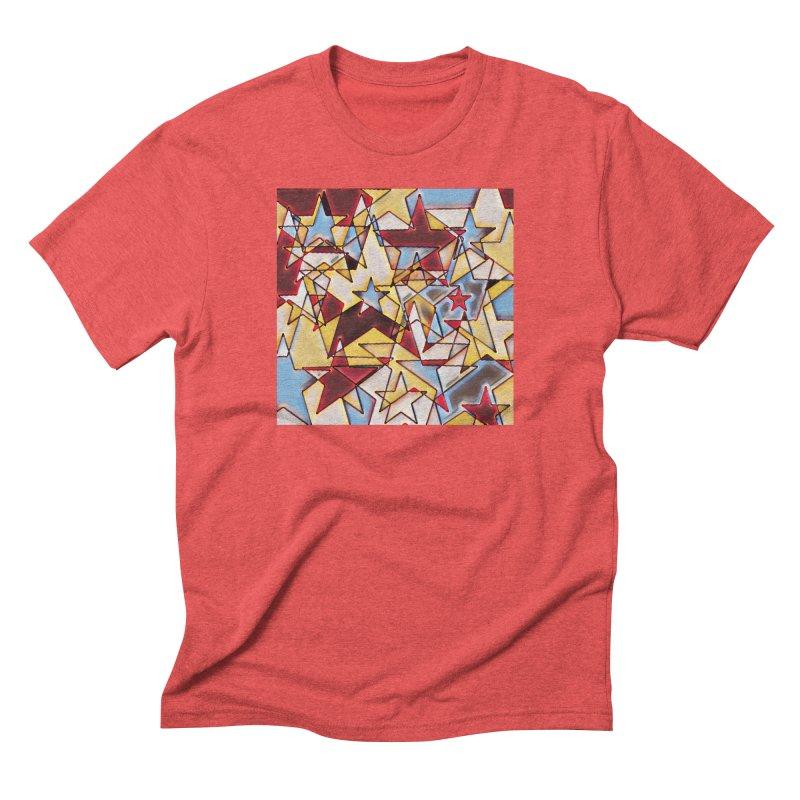 Stars Men's Triblend T-Shirt by Tee Panic T-Shirt Shop by Muzehack