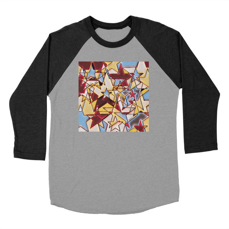Stars Women's Baseball Triblend Longsleeve T-Shirt by Tee Panic T-Shirt Shop by Muzehack