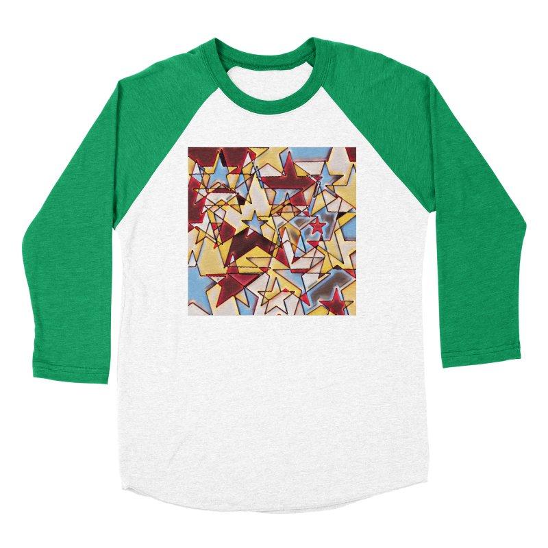 Stars Men's Baseball Triblend Longsleeve T-Shirt by Tee Panic T-Shirt Shop by Muzehack