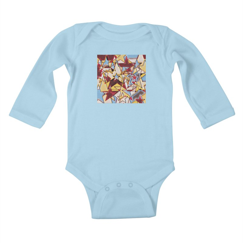 Stars Kids Baby Longsleeve Bodysuit by Tee Panic T-Shirt Shop by Muzehack