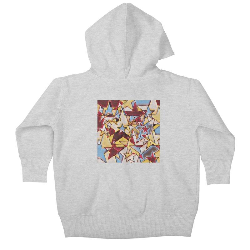 Stars Kids Baby Zip-Up Hoody by Tee Panic T-Shirt Shop by Muzehack
