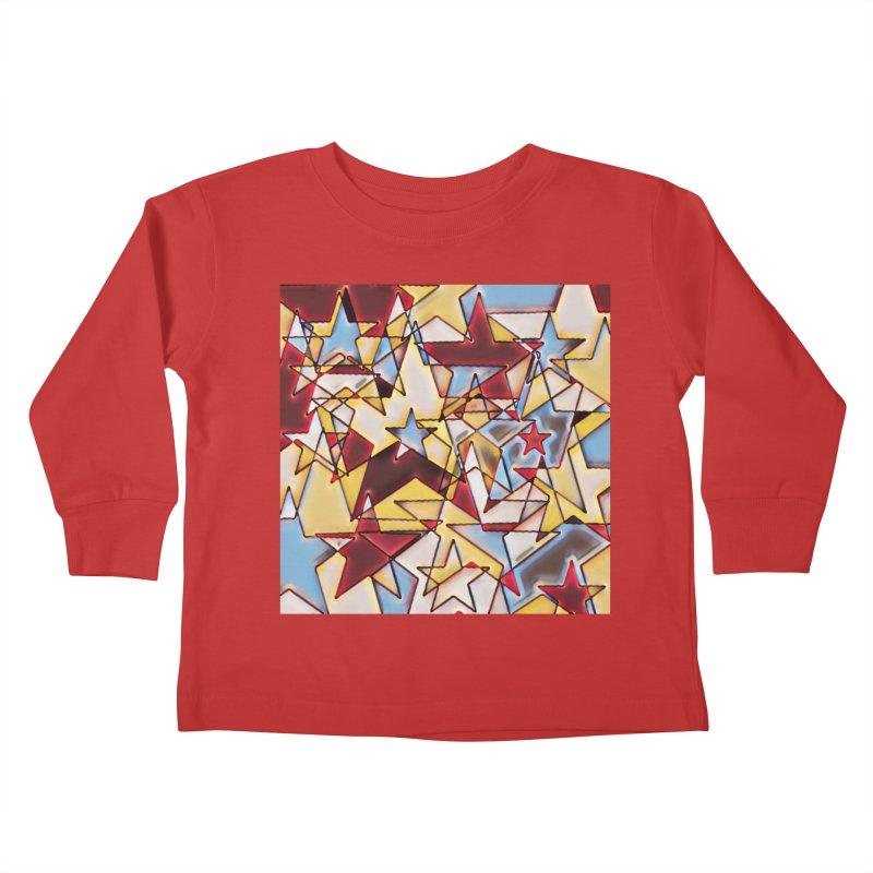 Stars Kids Toddler Longsleeve T-Shirt by Tee Panic T-Shirt Shop by Muzehack