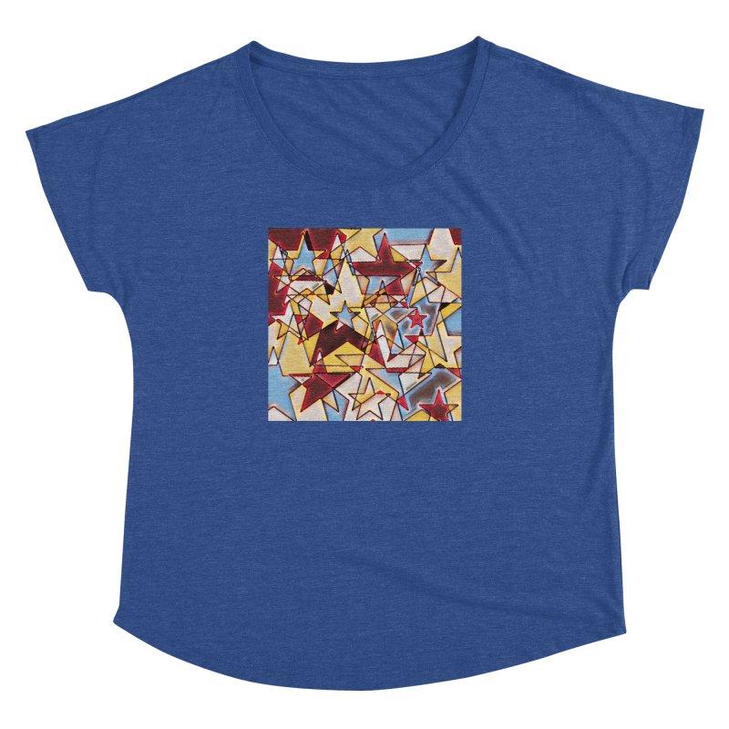 Stars Women's Dolman Scoop Neck by Tee Panic T-Shirt Shop by Muzehack