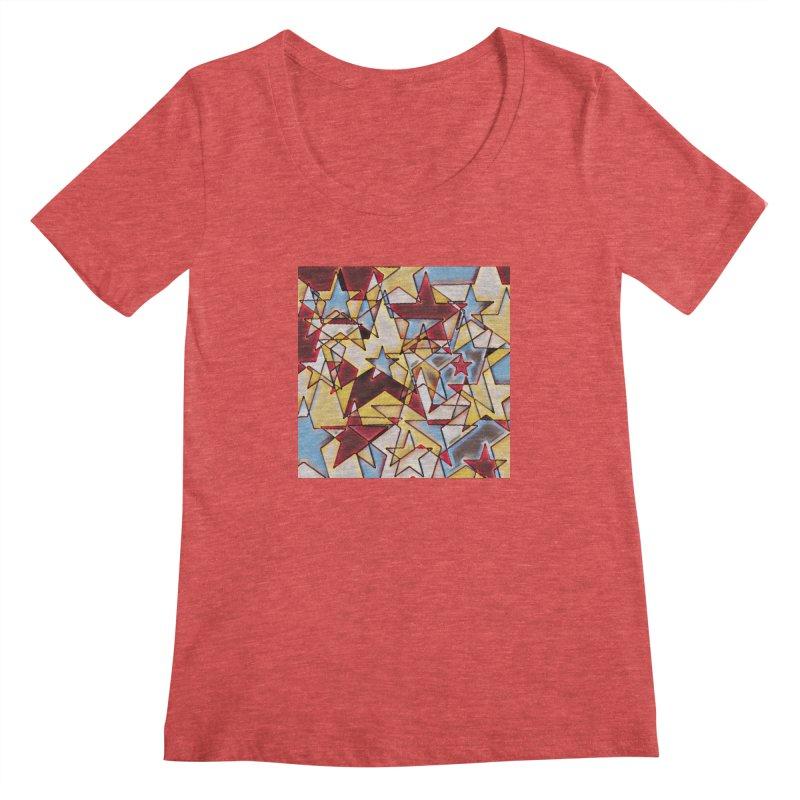 Stars Women's Regular Scoop Neck by Tee Panic T-Shirt Shop by Muzehack