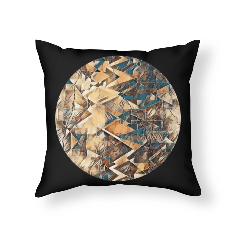 Opposing Forces Abstract Design Home Throw Pillow by Tee Panic T-Shirt Shop by Muzehack