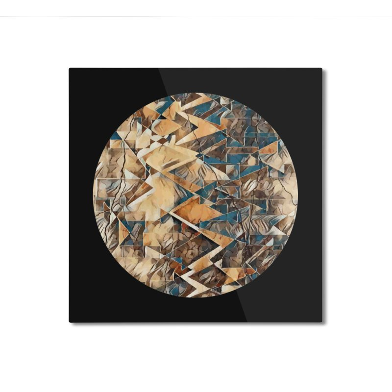 Opposing Forces Abstract Design Home Mounted Aluminum Print by Tee Panic T-Shirt Shop by Muzehack