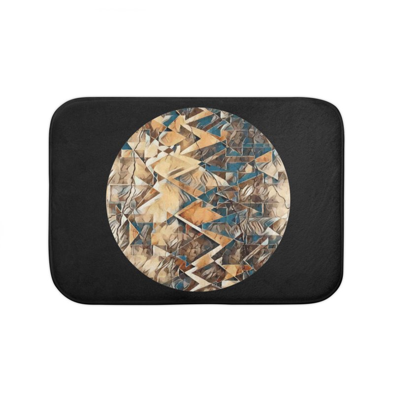 Opposing Forces Abstract Design Home Bath Mat by Tee Panic T-Shirt Shop by Muzehack