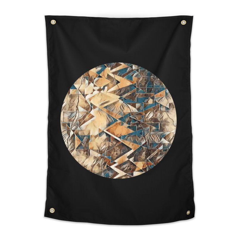 Opposing Forces Abstract Design Home Tapestry by Tee Panic T-Shirt Shop by Muzehack