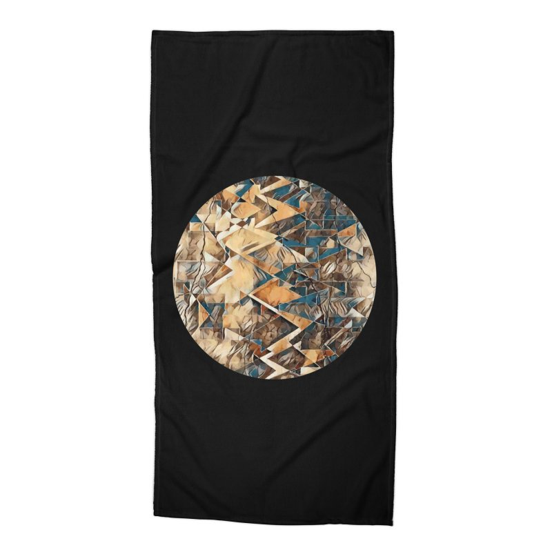 Opposing Forces Abstract Design Accessories Beach Towel by Tee Panic T-Shirt Shop by Muzehack