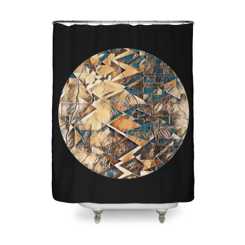 Opposing Forces Abstract Design Home Shower Curtain by Tee Panic T-Shirt Shop by Muzehack