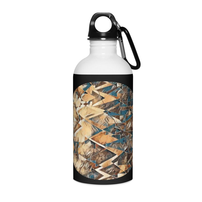 Opposing Forces Abstract Design Accessories Water Bottle by Tee Panic T-Shirt Shop by Muzehack