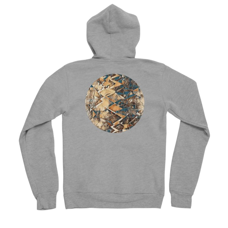Opposing Forces Abstract Design Men's Sponge Fleece Zip-Up Hoody by Tee Panic T-Shirt Shop by Muzehack