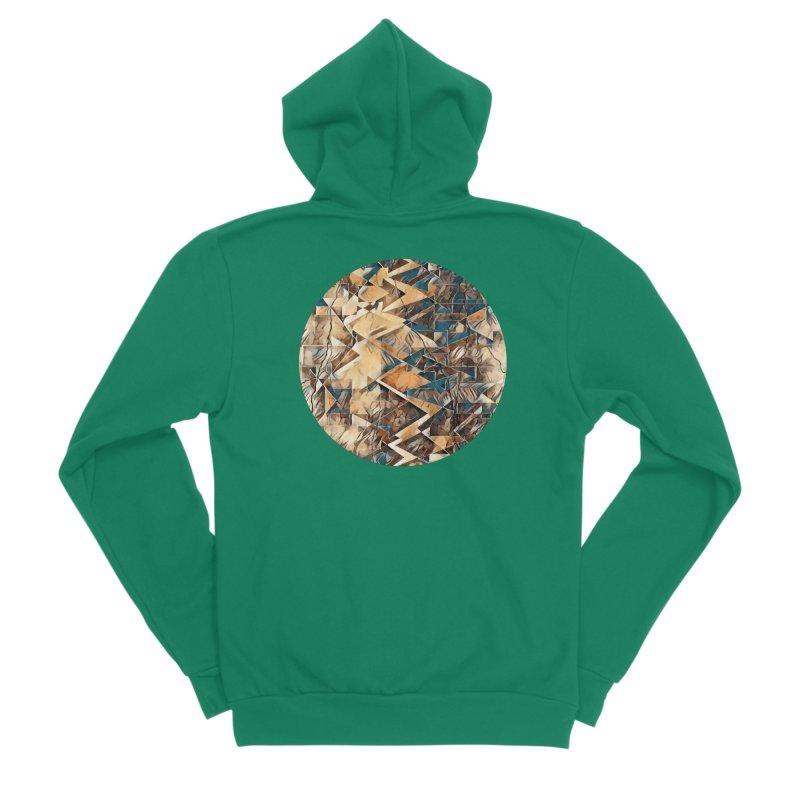 Opposing Forces Abstract Design Men's Sponge Fleece Zip-Up Hoody by Tee Panic T-Shirt Shop by Muzehack