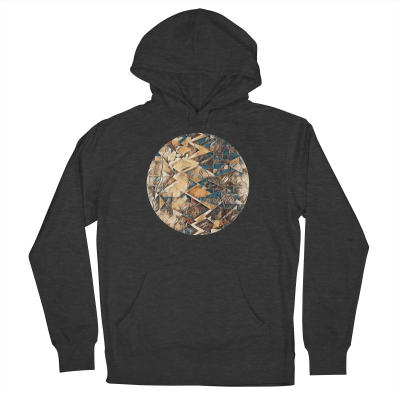 Opposing Forces Abstract Design Women's French Terry Pullover Hoody by Tee Panic T-Shirt Shop by Muzehack