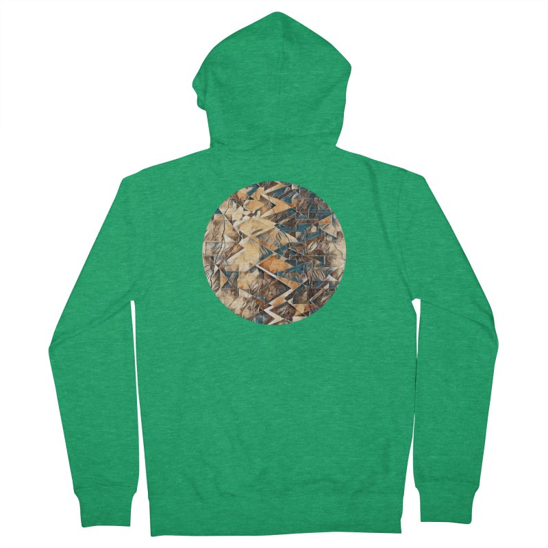 Opposing Forces Abstract Design Men's French Terry Zip-Up Hoody by Tee Panic T-Shirt Shop by Muzehack