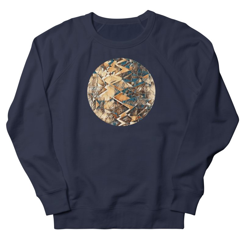 Opposing Forces Abstract Design Women's French Terry Sweatshirt by Tee Panic T-Shirt Shop by Muzehack