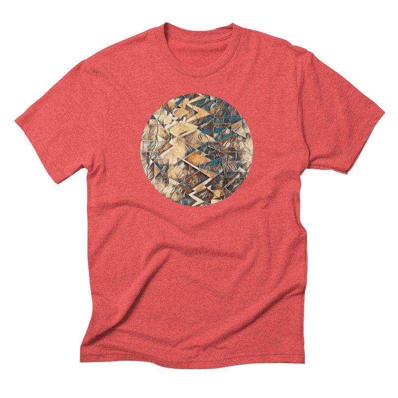 Opposing Forces Abstract Design Men's Triblend T-Shirt by Tee Panic T-Shirt Shop by Muzehack