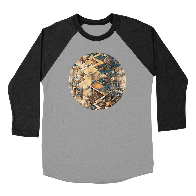 Opposing Forces Abstract Design Women's Baseball Triblend Longsleeve T-Shirt by Tee Panic T-Shirt Shop by Muzehack
