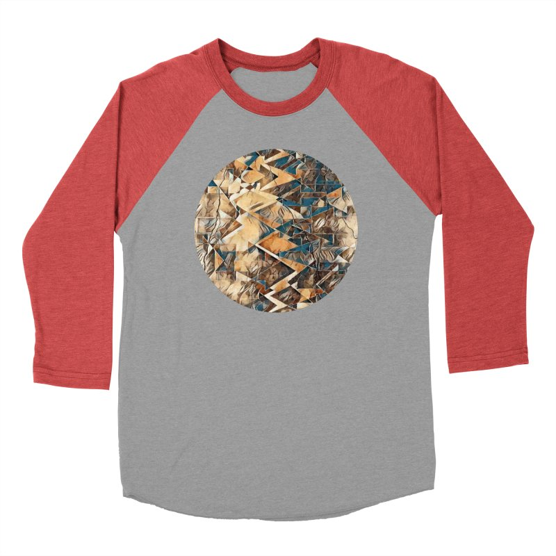 Opposing Forces Abstract Design Men's Baseball Triblend Longsleeve T-Shirt by Tee Panic T-Shirt Shop by Muzehack