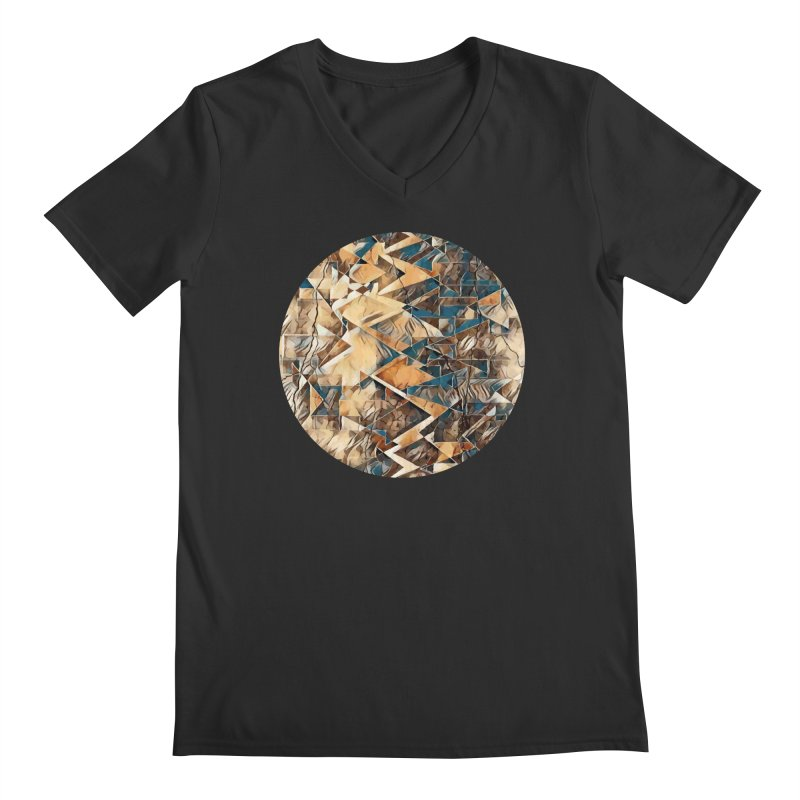 Opposing Forces Abstract Design Men's Regular V-Neck by Tee Panic T-Shirt Shop by Muzehack