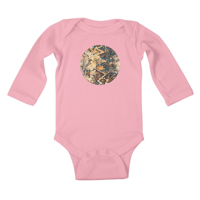 Opposing Forces Abstract Design Kids Baby Longsleeve Bodysuit by Tee Panic T-Shirt Shop by Muzehack